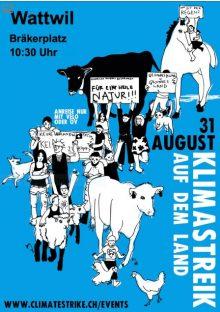 31. August, 10.30 Uhr, Klima-Demonstration auf dem Bräkerplatz in Wattwil