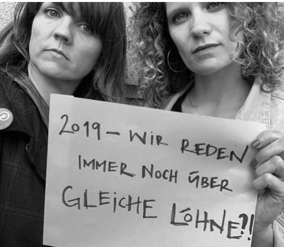 Buchhändler*innen und Journalist*innen beteiligen sich am Frauenstreik – #nowomennonews